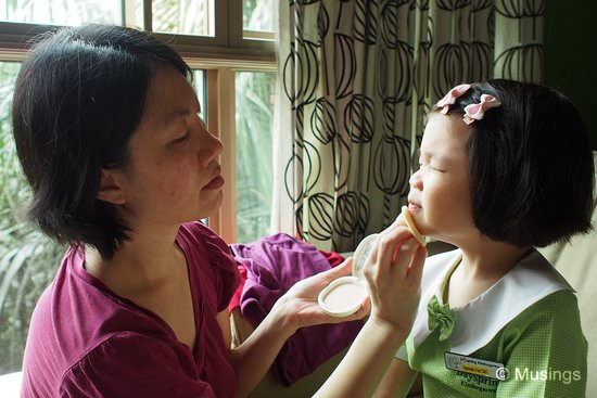 Mommy was the MUA - make-up artist - for the day. — with Tay Ling Ling.