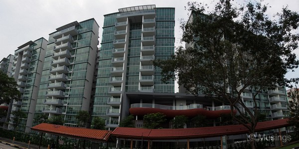 Panoramic stitch of Blocks 2, 6 and 8 as seen from across Lorong Ah Soo.