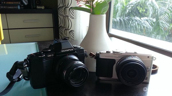 The 45mm with the E-M5, and 14mm with the E-PL6.