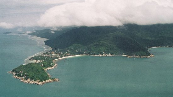 The island from the air.