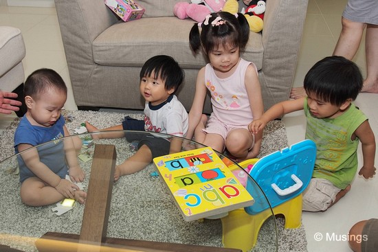 Our small group gathering during the mid-autumn lantern festival. The baby boy to Peter's left is younger than he is!