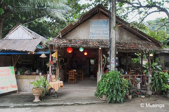 Bamboo Hut - almost directly opposite Again & Again.