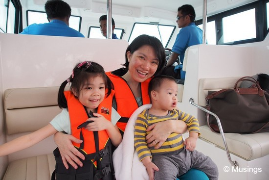 At the start of the boat ride to Baan Tai pier Within minutes, both kids are gonna look terrified instead.