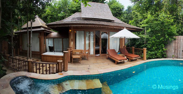 Our Hideaway Pool Villa Suite. It's as lovely as it looks from the picture here