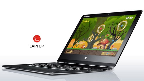 The Lenovo Yoga Pro 3, widely on display everywhere in local electronic stores.