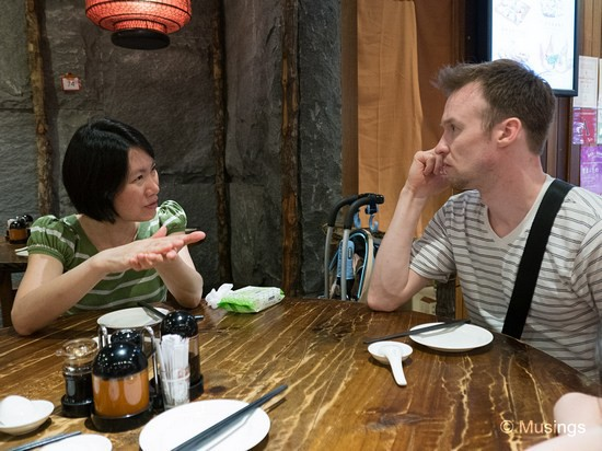 Debating over the finer points of cuisine (maybe?) at Dian Xiao Er @ Nex.