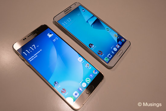 Note 5 (left) and 3.