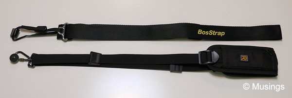 Comparing the RapidStrap and the BosStrap.