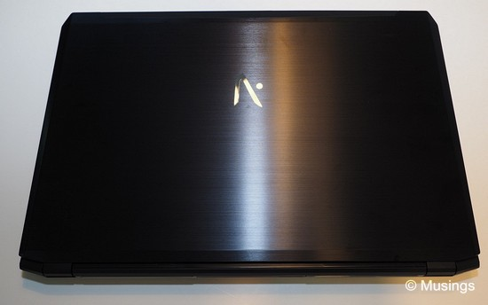 The Aftershock logo emblazoned on the brushed aluminum top.