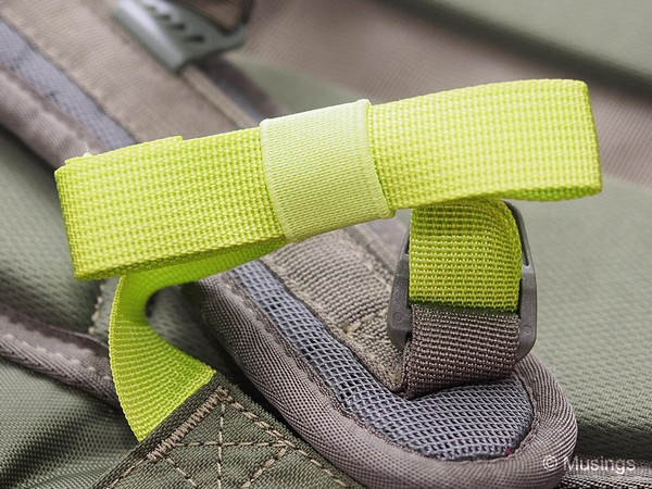 Strap organizers for the shoulder straps even. Not a standard inclusion in many other backpacks.