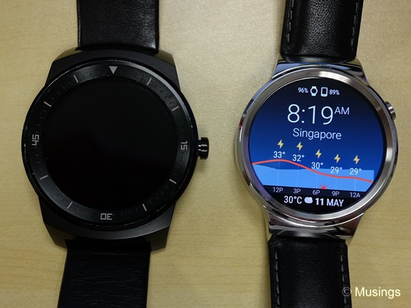The outgoing and incoming. The LG G Watch R won't switch on anymore.