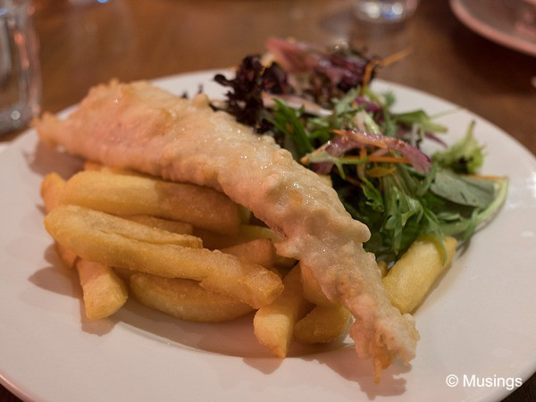 Fish and Chips dinner at Waves Restaurant @ Port Campbell.