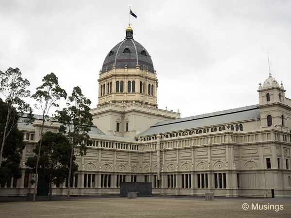 The Royal Exhibition Building.