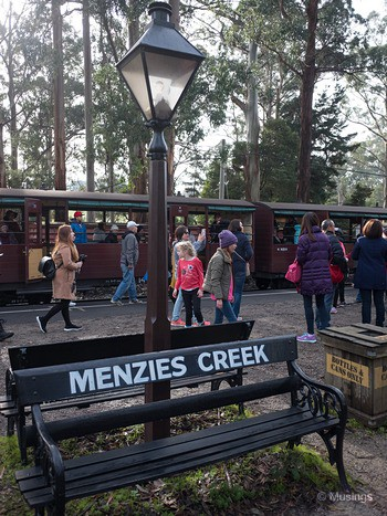 Menzies Creek - the station stop where we got off after the 30 minute ride.