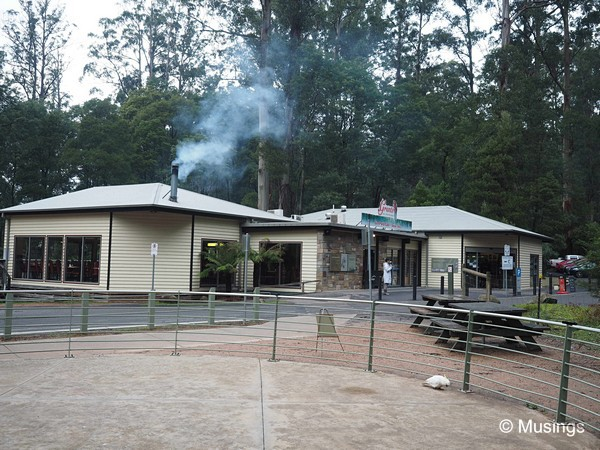 The cafe and souvenir shop at Grants Picnic Ground.