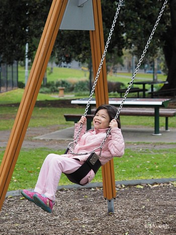 When we were all young. H at the swing @ Flagstaff Gardens