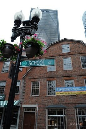 Freedom Trail: Old City Hall, New Book Store & Old Corner
