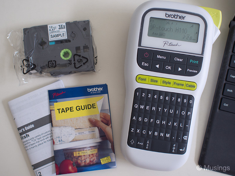 Brother P-Touch PT-H110 Label Maker – Musings | Reflections